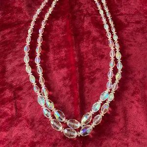 Iridescent 1950s necklace